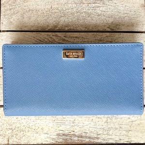 🎀 Kate Spade Tile Blue Stacy Wallet 🎀